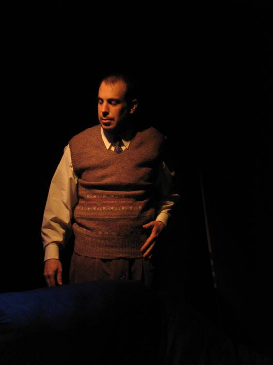 Jim Azelvandre in the Madlab Theatre production of Saver (Columbus, OH)