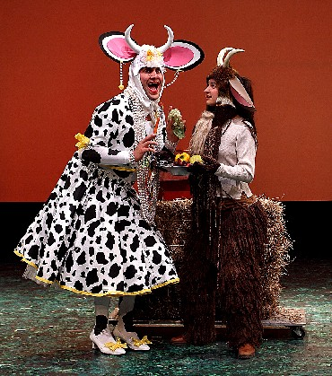 "Gregg Weiner and Lauren Feldman in ""The Prodigal Cow"", City Theatre, Miami, FL"