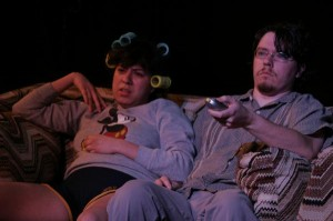 "Christina Martinez and Jeremy Gable in the Hunger Artists' production of The Remote"" (Fullerton, CA)"
