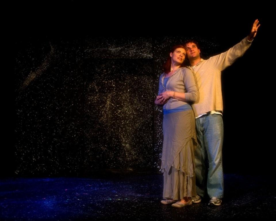 "Danielle Koppel and Steven Warnock in ""Up On The Roof"", Ten by Ten Festival, Carrboro, NC"